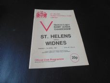 St Helens v Widnes, 1980/81